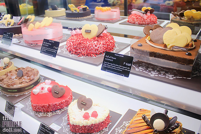 Heart-shaped cakes at Tous Les Jours