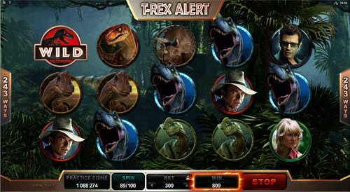 Jurassic Park T-Rex Alert Win