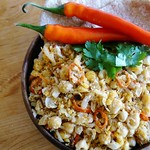 Dornish chickpea scramble with red chillies