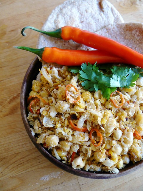 Dornish chickpea scramble