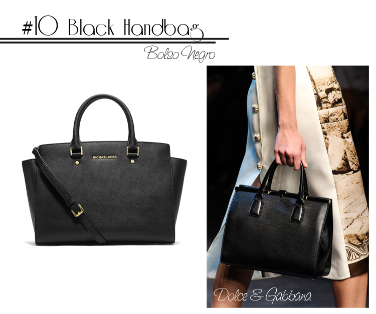 10 Black Shopping bag