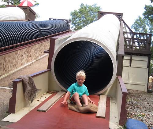 Dry tube slide