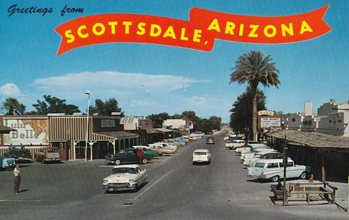 Greetings from Scottsdale Arizona postcard