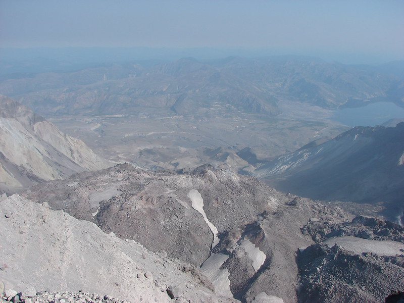 Lava dome in the crater of Mt. St. Helens