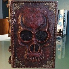 Altered Book Project: Skull