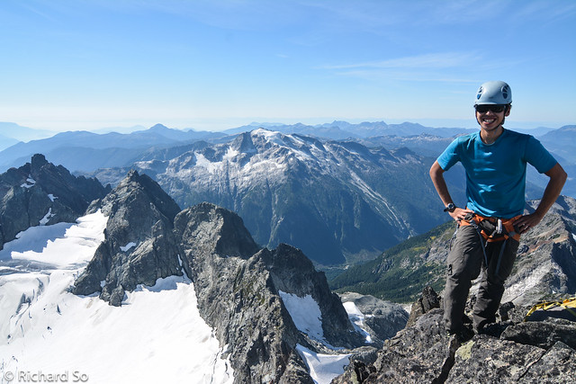 Rich on the summit of Serratus