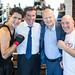 Justin, Scott Brison and Geoff Regan meet members of Family SOS in Halifax. August 25, 2014.