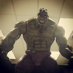 Zombie + Hulk = trouble. I know that and I