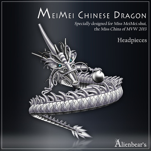 MeiMei Chinese Dragon Pt Headpieces