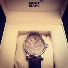 My amazing @montblanc watch wedding present from the new Mrs Wheeler @thepinkjellybaby #thewheelerwedding2014 #wedding #present #watch ⌚️