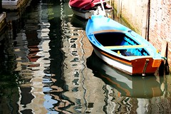 boat and reflections