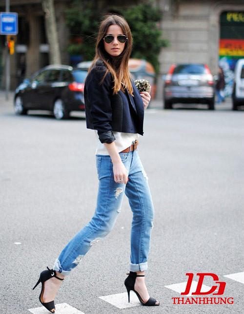 Mẫu quần jeans boyfriend nữ đẹp CỰC chất 8