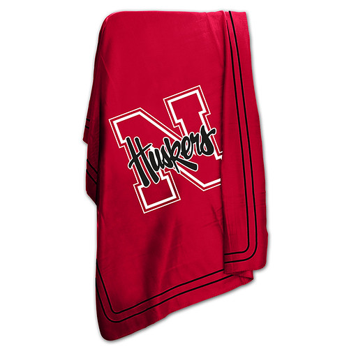 Nebraska Cornhuskers NCAA Classic Fleece Throw