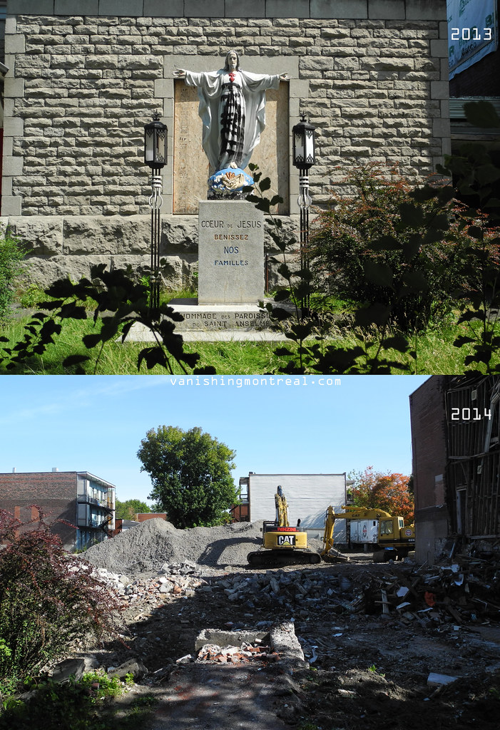 Before and After : Église St-Anselme church 1