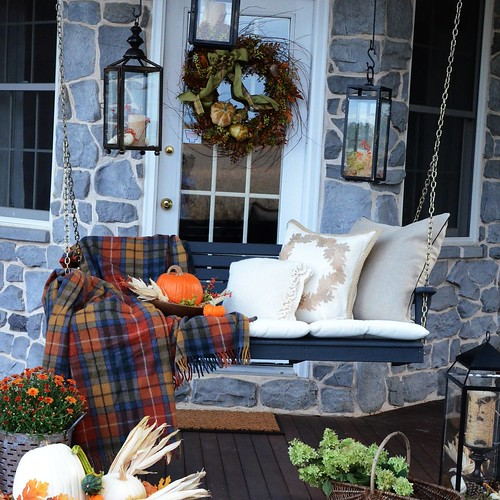 StoneGable Fall Porch