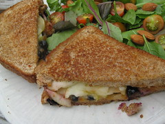 sandwich, meal, lunch, breakfast, vegetarian food, food, dish, cuisine, toast,