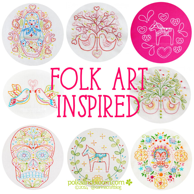 Polka and Bloom folk art inspired