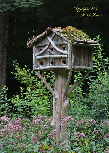 Rustic Birdhouse 2 Of 2 Landscape At Leonard J Buck