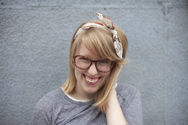 Bonlook frames and a vintage headscarf