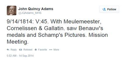 John Quincy Adams tweet 1814-09-14