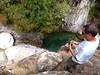 Sente du Pulischellu : arrivée au premier départ de canyoning
