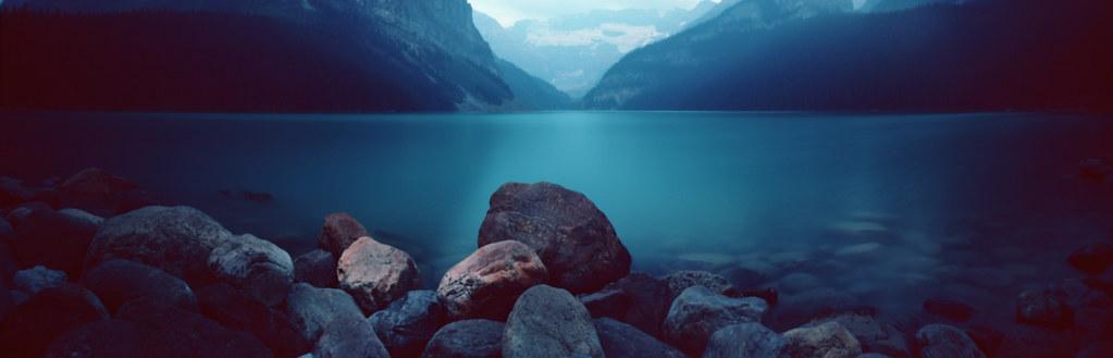 At the edge of the lake