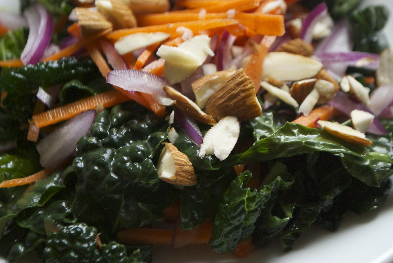 Kale Carrot Salad with Orange Vinaigrette | Kitchen in the Hills