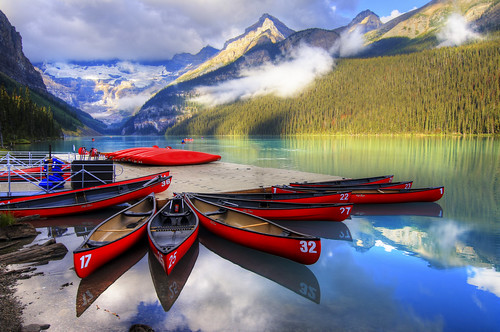blue red cloud mountain lake canada green water yellow sunrise landscape jasper canyon glacier alberta banff lakelouise emerald gem sapphire morainelake medicinelake