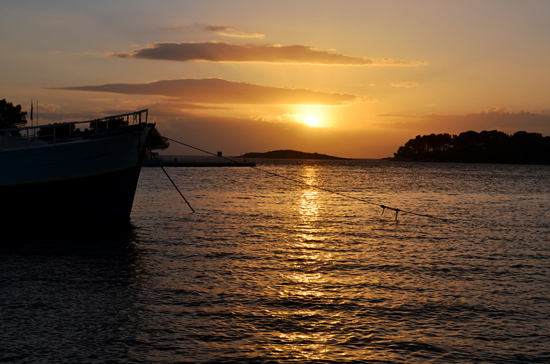 Golden Sunset, Pomena, Mljet, Croatia