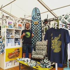 Come hang out at the Scottish Game Fair here at the 3D/2D design marquee Callum rocking the stand waiting to meet you.. #hunting #Scottishgamefair #apparel #artwork #staywild #designmarket #design #coldwaterculture #fishing #getoutdoors #getoutstayout #sa