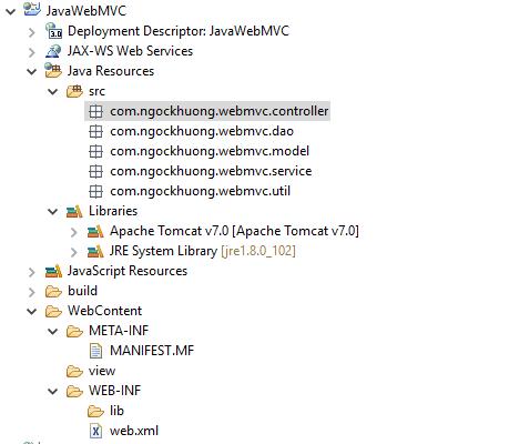 Tạo trang đăng nhập đơn giản bằng JSP Servlet theo mô hình MVC