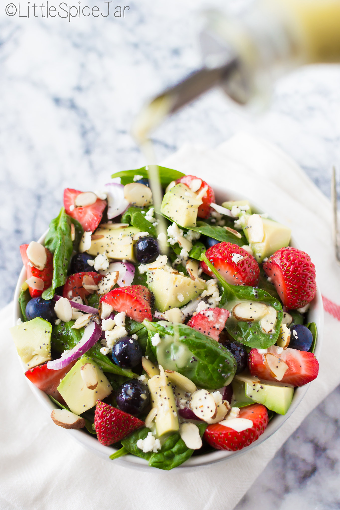 Strawberry Spinach Salad with Citrus Poppyseed Dressing 15