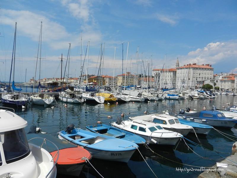 Порт и стоянка яхт в Пиране