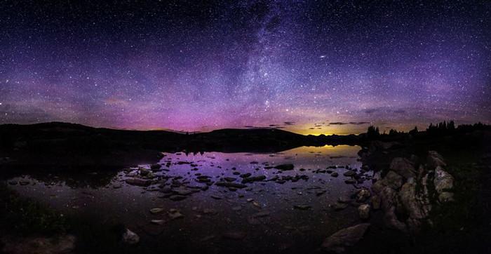 Звездное небо - красивая фотосъемка пейзажей
