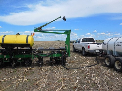 Fillin' up with fertilizer