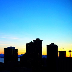 #seattle #skyline #sunset