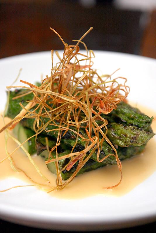 Asparagus, leeks, garlic miso (S$14)