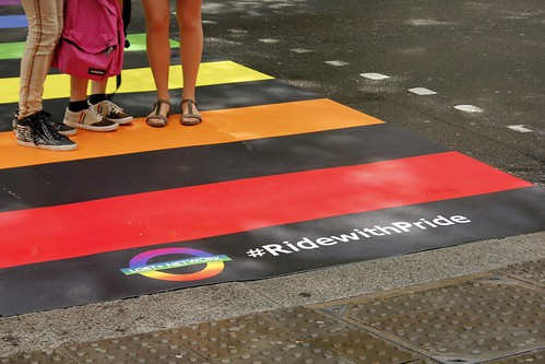 Rainbow Zebra Crossing - London Pride