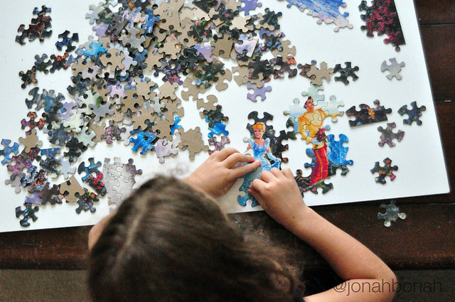 Summer Fun {put together a puzzle}