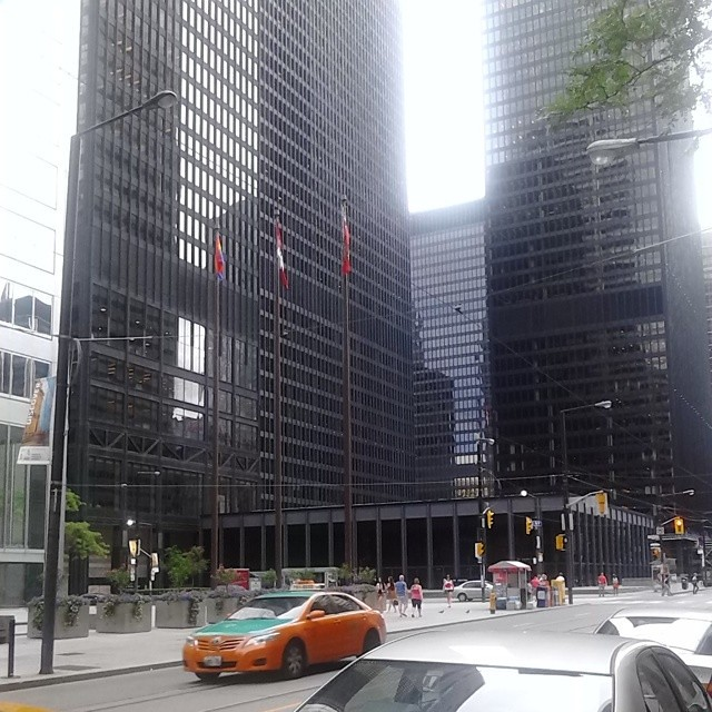 Pride in the Financial District #toronto #worldpride #financialdistrict #flags #miesvanderrohe
