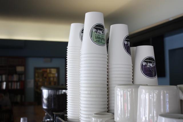 Coffee cups at Bauhaus