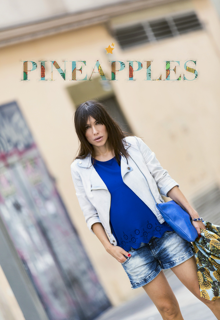 street style barbara crespo pineapples scarf the corner shop top fashion blogger outfit blog de moda
