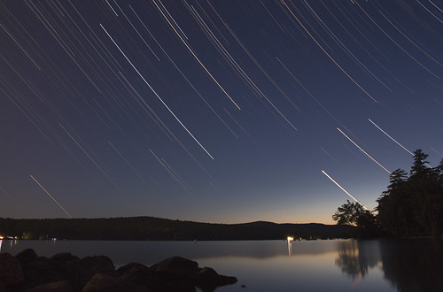 sunset lake water star newhampshire meredith startrails stargazing lakewaukewan canoneos650d karampatsos canonefs18135mmf3556isstm