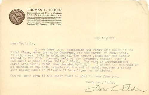 Thomas Elder letter