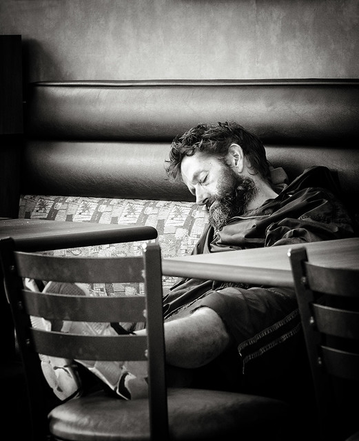 Subway snooze bw