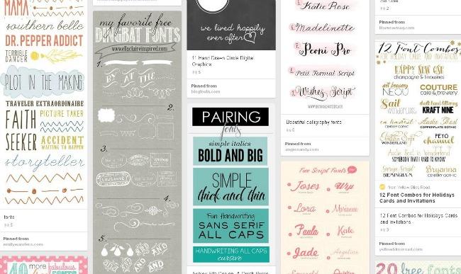 Grafie gratis scaricabili, Free Fonts on Pinterest' - www_pinterest_com_topogina