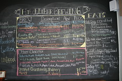 blackboard, menu, advertising,