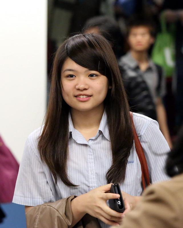 cute girl with dimple大眼睛酒窩可愛女孩I