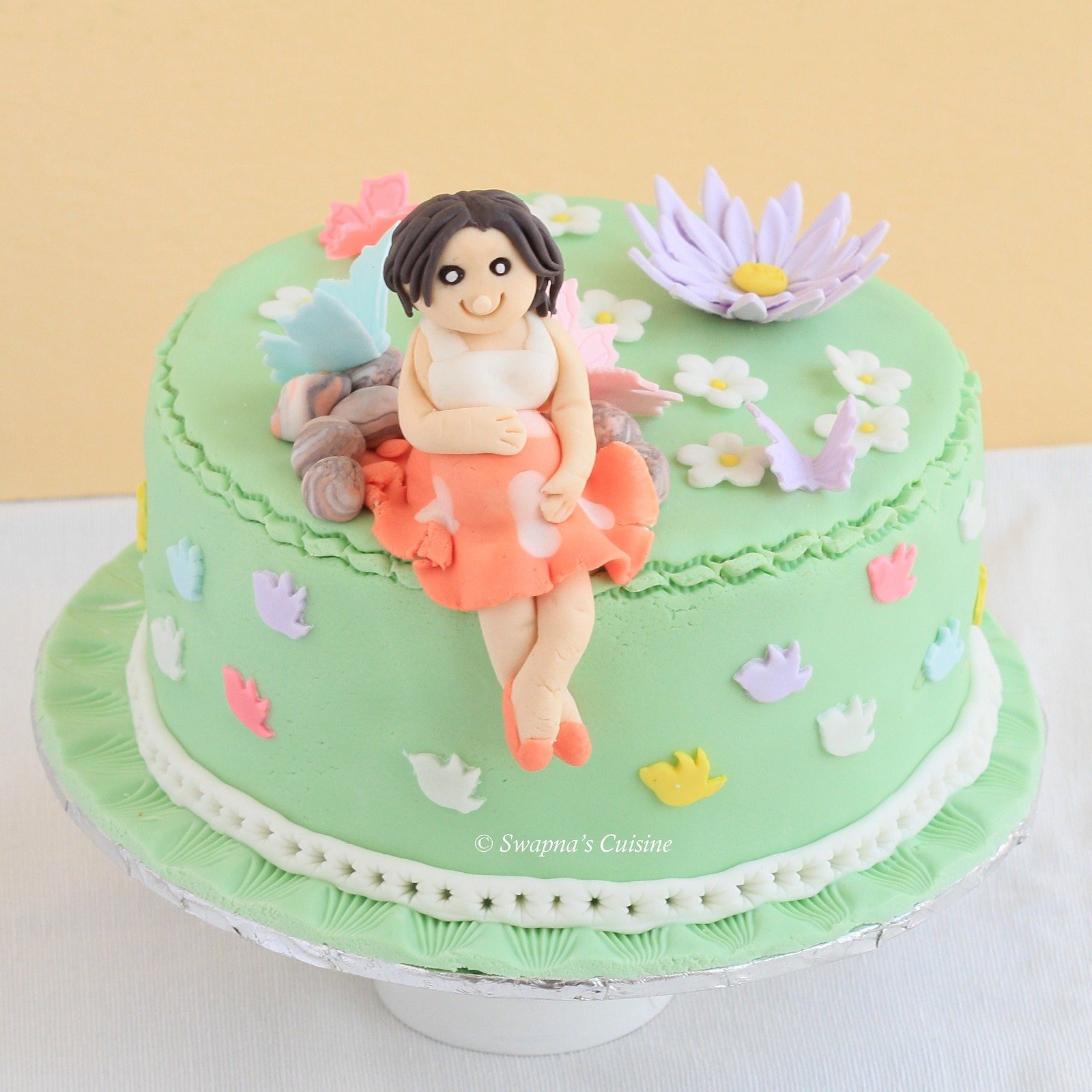 Pregnant Woman Baby Shower Cake