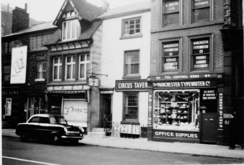 Circus tavern, Portland street, Manchester, Dec 1957